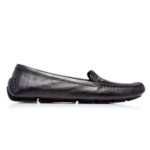 Gucci Women's Black Leather Driver Loafers Size 40